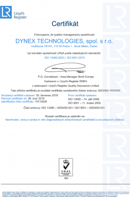 DYNEX TECHNOLOGIES ISO 13485:2003