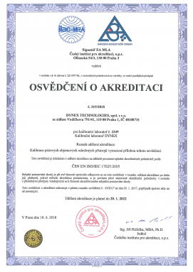 Accreditation certificate Calibration laboratory